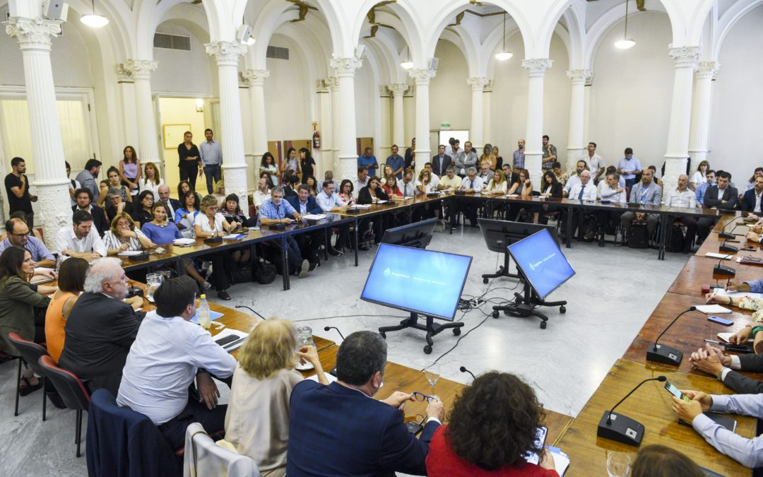 Reunión de Ministerios de Educación y Salud con Rectores de Universidades