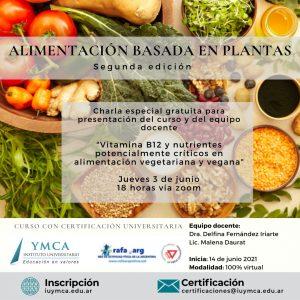 Charla de Alimentación basada en plantas