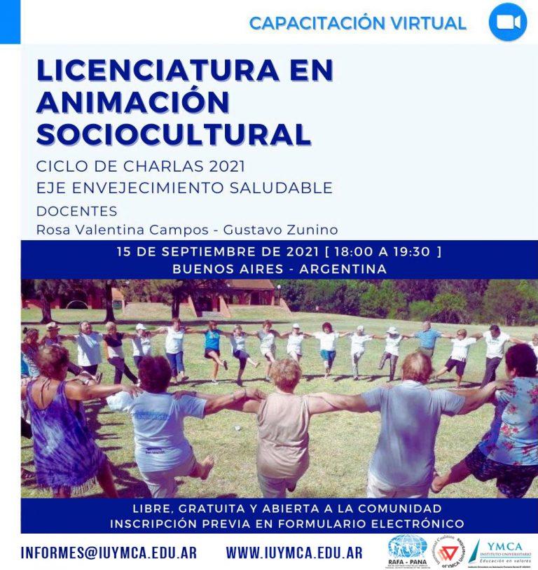 CHARLA GRATUITA ANIMACIÓN SOCIOCULTURAL